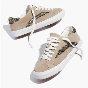 (Madewell) Sidewalk Glitter Suede Sneakers